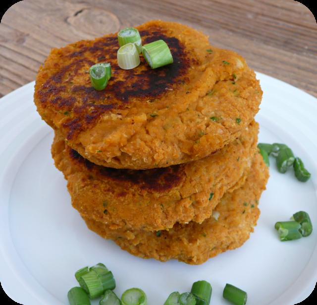 [Végétarien] Galette patate douce/pois chiches  P1110746
